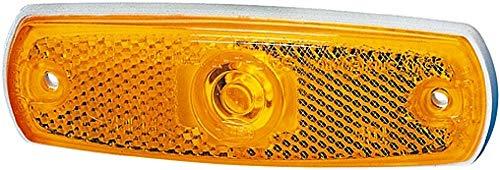 HELLA 2PS 962 964-031 Seitenmarkierungsleuchte - W3W - 12V - Lichtscheibenfarbe: gelb - Einbau - Einbauort: links/rechts