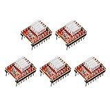 StepStick A4988 - Modulo di reprap per motore compatibile Arduino con mini dissipatore di calore per controller stampante 3D Reprap Ramps 1.4