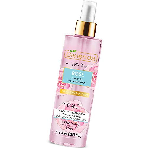 Bielenda Rose Care - Light Cosmetic In The Form Of Mist For Face And Body, Enhancing Rejuvenation And Rehydration Of The Skin - Rose Care Face Mist - 200 ml