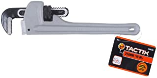 Tactix 250mm(10 Inch) Pipe Wrench Aluminium - Ttx-335103