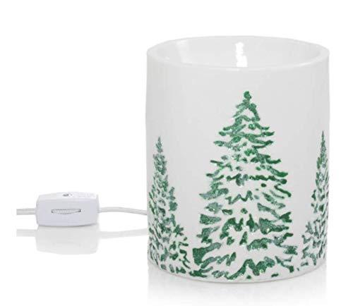 Yankee Candle Snowy Gatherings Green Glitter Trees - Calentador eléctrico de cera...