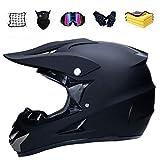 Xiaol Casco de motocross con guantes, máscara, casco de motocross, casco DH, casco de montaña, adecuado para todas las estaciones