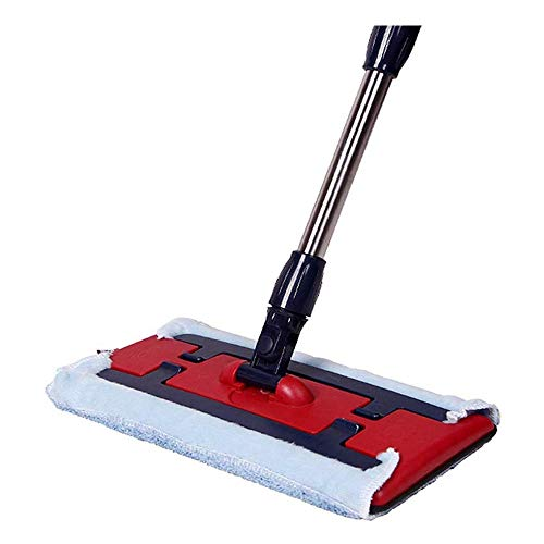 XKD Rotante Mop Easy Self-torcendosi Flipping Mop Piano, Lazy Mop voor laminaat, tegels, houten vloeren, Wet & Dry – 2 pagina's – Pad afmetingen: 35 x 15 x 135 cm