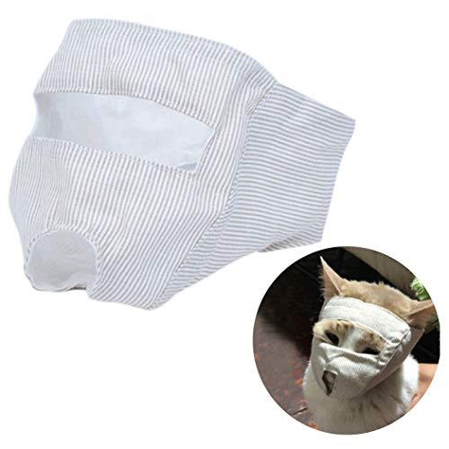 Legendog Katzenmaulkorb Anti-Beiß-Maulkorb für Katzen mit offenen Augen