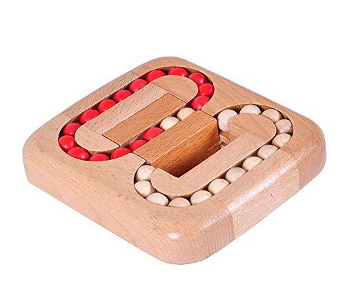 lifepower 木製ボールパズル ボードゲーム 迷路ゲーム 天然木材 色揃え 教育玩具 子供から大人まで楽しめる レトロ感 想像力 集中力 向上 暇つぶし