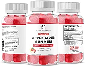 Apple Cider Vinegar Gummies- Folic Acid and Vitamin B12 | Helps in Digestion- Weight Management, Detox, Heart Health and Energy Levels| Keto Friendly