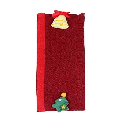 NUOBESTY 2 stycken jul kylskåp dörrhandtag skydd jul träd klocka kylskåp mikrovågsugn dörrhandtag skydd köksutrustning handtagsskydd