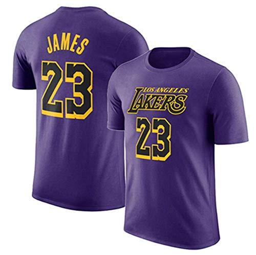 HANJIAJKL Camiseta para Hombre,Camiseta de Baloncesto,Camiseta NBA Lakers # 23,Camiseta de Baloncesto (S-XXXL),Purple b,S