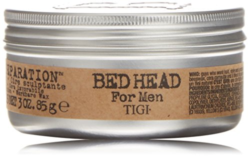 Tigi Bed Head Men TIGI Bed Head B For Men Matte Separation Workable Wax 2.65 oz Tappo per orecchie 6 Centimeters Nero (Black)