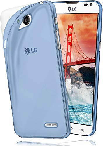 moex Aero Hülle für LG L90 - Hülle aus Silikon, komplett transparent, Handy Schutzhülle Ultra dünn, Handyhülle durchsichtig - Blau