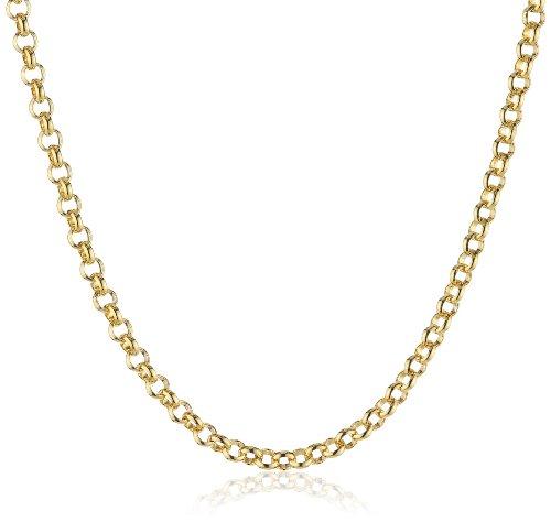 Engelsrufer Erbskette Vergoldet 925er-Sterlingsilber Stärke 2,1 mm Länge 45 cm