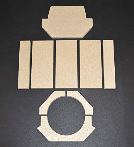 Feuerraumauskleidung für den Dan Skan Cristal Kaminofen - Vermiculite - 9-teilig