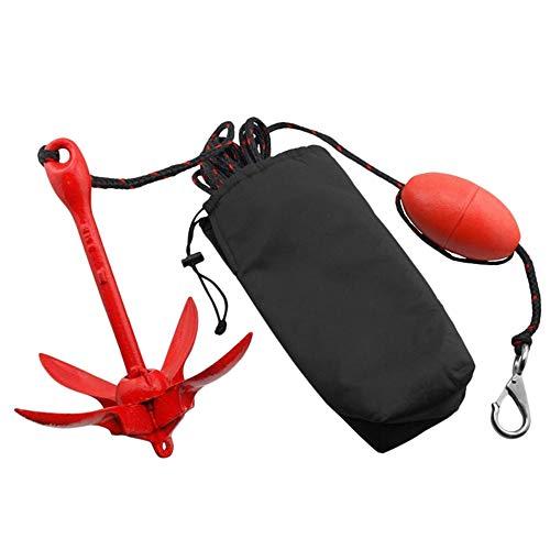 BENPAO Kit Completo de Anclaje de Grapnel, Anclas Plegables para embarcaciones pequeñas, Kayaks, PWC, Jet ski, Tablas de Paddle, etc.