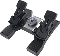 Self-centering pedals with adjustable damping / Foot rests adjust to fit all sizes and include non-slip materials Precise rudder and braking control / Tension adjustment - choose resistance to suit the way you fly Partial metal construction for long ...