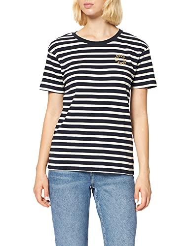 Scotch & Soda S/S Striped tee Camiseta, Combo A 0217, M para Mujer