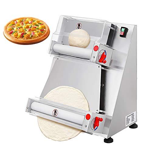 Máquina laminadora automática de rodillo de masa para pizza, máquina comercial para hacer pizza, equipo para hacer masa de pizza, 12 pulgadas / 15 pulgadas