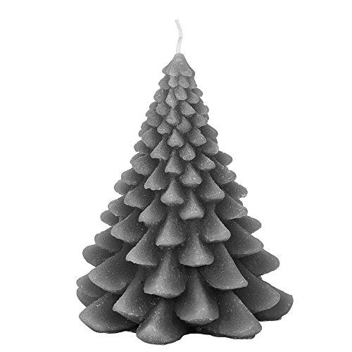 Broste Kopenhagen kaars dennenboom kerstboom kerstboom staalgrijs 17 cm kerstkaars - decoratie-idee - kerstdecoratie
