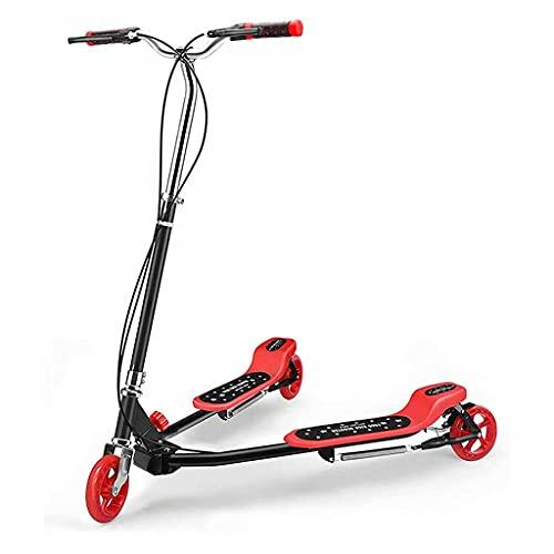 WZWHJ Beau Voiture battante des Enfants Pliable, Scooter, Tricycle, Convient aux Enfants de Plus de 8 Ans et Adultes (Couleur: Jaune)