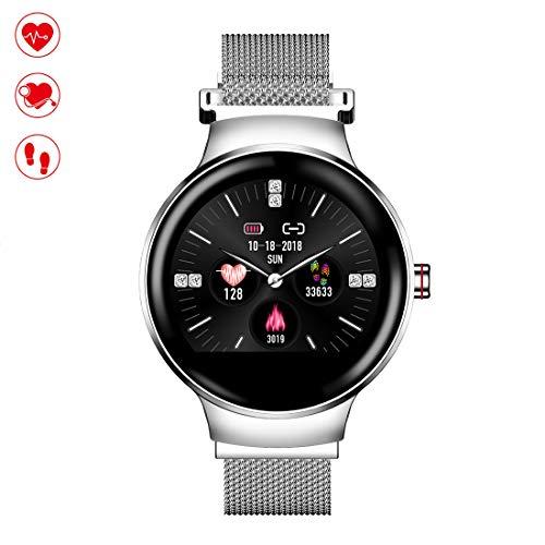 Oolifeng Fitnesstracker met stappenteller, smartwatch, IP67, waterdicht en bluetooth, bloeddrukmeter, slaapmonitor, voor dames en heren, kinderen