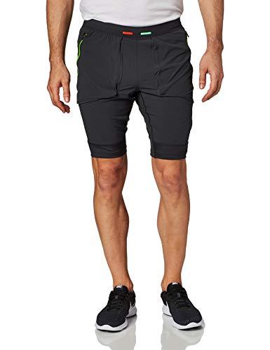 Nike M Nk Wild Run Hyrbid Short - off noir/black/habanero red, Größe:S