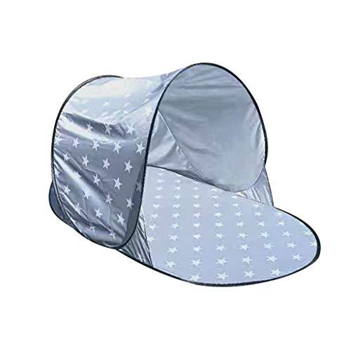 Strandmuschel, Tragbar Light Strandzelt, Automatisches Pop-Up-Schnell öffnen Zelt Outdoor-Wasserdicht- Anti-UV Zelt für 1-2 Personen Familie/Baby Sonnenschutz Schattenzelt 142X72X60CM (B)