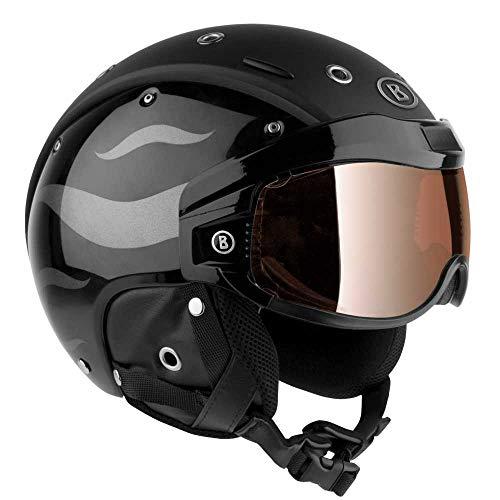 Bogner Helm B-VISOR FLAMES BLACK Größe L - Kopfumfang 59-63cm