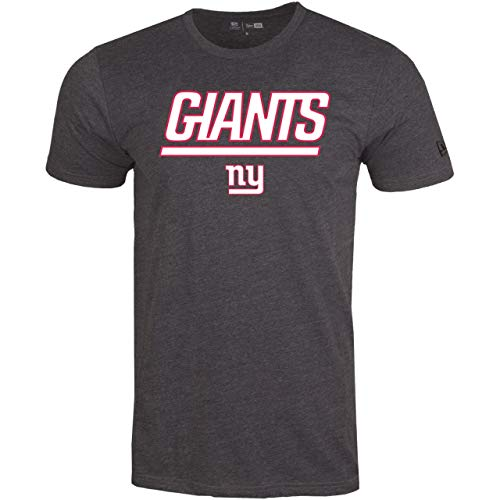 New Era Stack Logo Shirt - NFL New York Giants Charcoal - XL