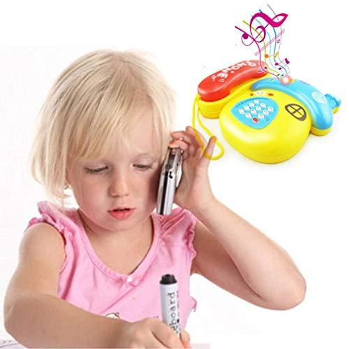 Buy Partm Kids Phone Toy Cute Cartoon Telephone Baby Early Education Music Toys Cute Cartoon Puzzle ...