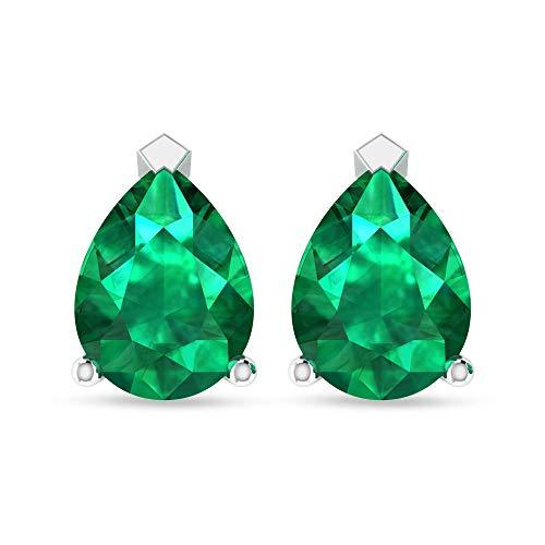 Rosec Jewels 10 quilates oro amarillo pera Green esmeralda, difuso