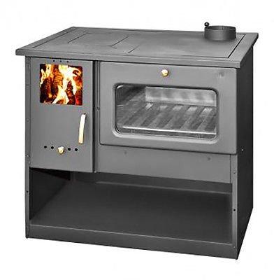 Estufa de leña con horno de alta eficiencia, fabricada en