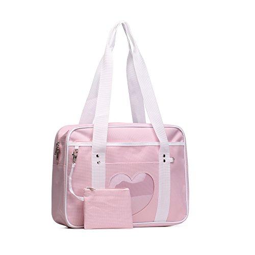 SteamedBun Ita Bag Heart Japanese School Bag Kawaii Large Shoulder Anime Purse