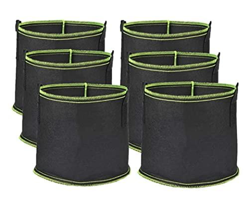 LATERN [6 Pezzi 5 Galloni Sacchi per Piante, Sacchetti Traspiranti in Tessuto Non Tessuto Traspirante per Radici Rinforzato per Aerazione Vasi da Giardino Contenitore per Fiori Ortaggi