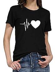 T-shirt voor dames met korte mouwen, zomer, zonnebloemprint, casual basic shirt, modieus, ronde hals, tieners, meisjes, vrouwen, hemd, blouse, tuniek, sport, tops