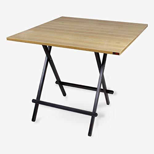 DX DX Klapptisch Haushalt Tisch tragbaren Tisch tragbaren Tisch Platz 4 Personen 80 * 80 schwarz Eiche schwarz Bein Teak schwarz Beine