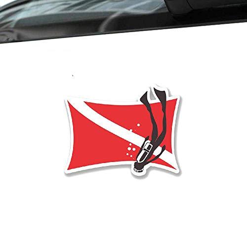 Etiquetas engomadas del coche de la bandera del buceo con escafandra Decoración del automóvil Etiqueta del PVC para Mazda 2 3 5 6 Cx 3 Cx 5 Cx 7 Mx 5 Mx7 Angkesaila, 14CM * 11CM