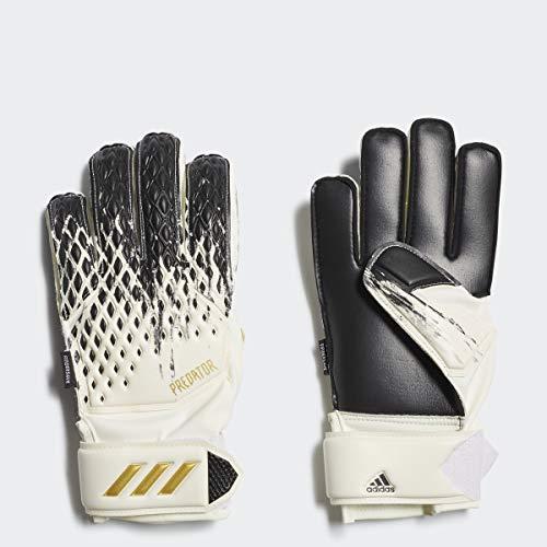 adidas unisex-youth Predator 20 MTC Goalkeeper Gloves White/Black/Gold Metallic 4.5