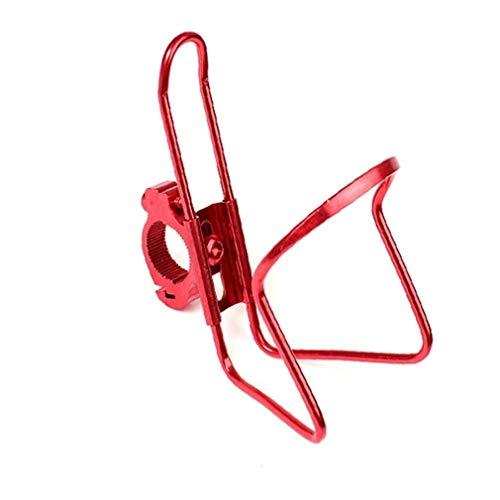NOLOGO Yg-ct Motorrad-Zubehör Metall-Becherhalter-Fahrrad-REIT Kreuz-Auto Buckle Wasserbecherhalter-Flaschen-Rahmen-Reise-Equipment (Farbe : Rot)