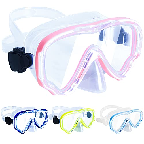 Peicees Snorkel Mask Swimming Goggles with Nose Cover for Kids, Youth Anti Fog Swim Goggles Diving Mask for Boys & Girls