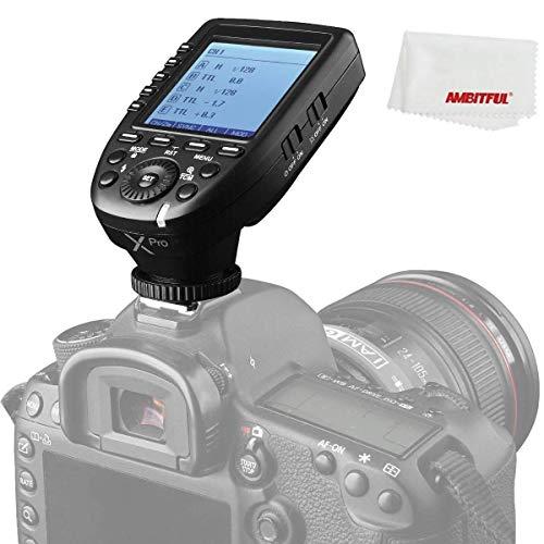 Godox XPro-C Transmisor de disparador de flash con E-TTL II 2.4G sistema X inalámbrico HSS pantalla LCD para cámara réflex digital Canon