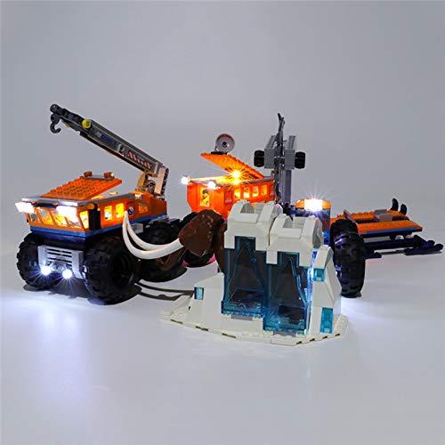 RTMX&kk Conjunto de Luces Lluminación para Base de exploración móvil ártica Modelo de Bloques de Construcción, Kit de Luces Compatible con Lego 60195 (Modelo Lego no Incluido)