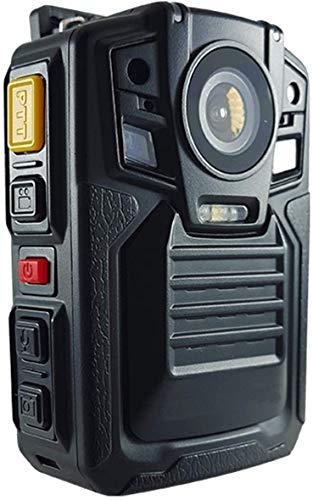 Videograbador portátil CAMMHD1296p con audio, 32MP, 2 baterías, visión nocturna por infrarrojos, impermeable, cámara policial de alta definición, 64GB