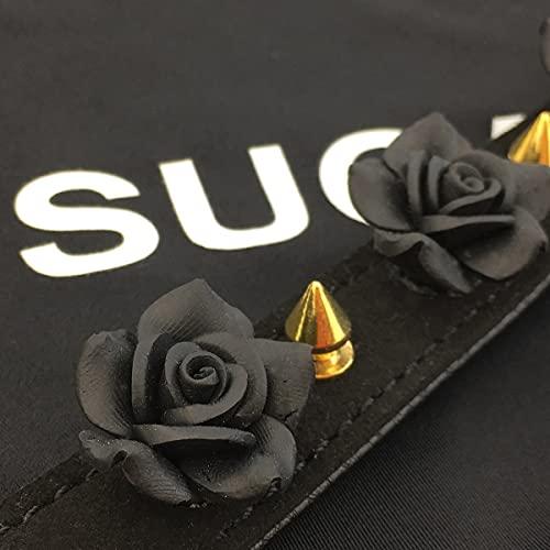 Handmade Flower Choker Collar Necklace for Women and Men (D)