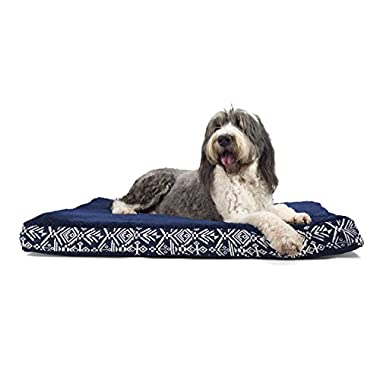 FurHaven Deluxe Orthopedic Pet Bed Mattress for Dogs and Cats, Southwest Indigo, Extra-Large