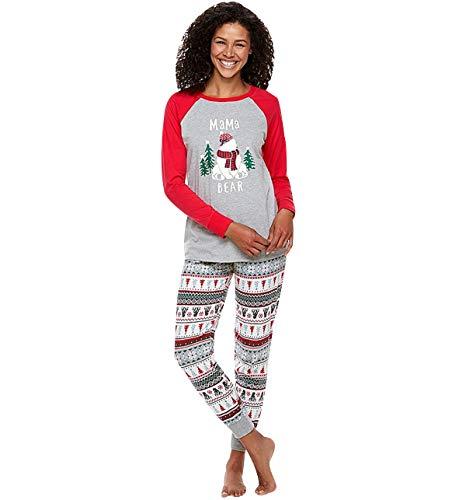 Pijamas Navidad Familia Conjunto Pijama Rayas Navideñas