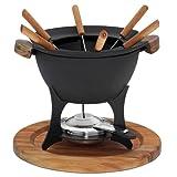 kela Set de Fondue de Queso 11 pzas, Cast Iron, Negro, 27,00x27,00x21,50 cm