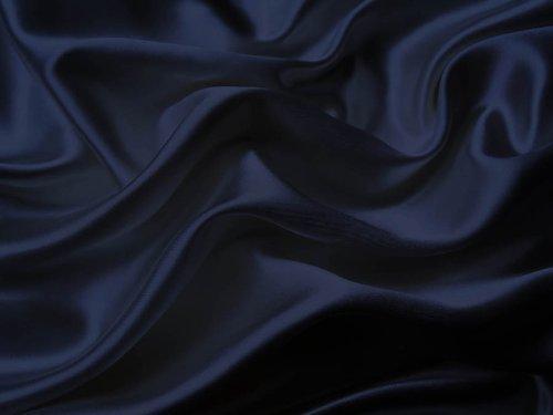 Mk Collection 4pc Soft Silky Satin Solid Color Deep Pocket Sheet Set (Navy Blue, Full)