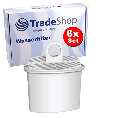 6x Trade-Shop Ersatz Wasserfilter Filterpatrone Filterkartusche für Braun Aroma Passion KF510 KF520 KF540 KF550 KF560 K570 KF580 KF590 Kaffeemaschine