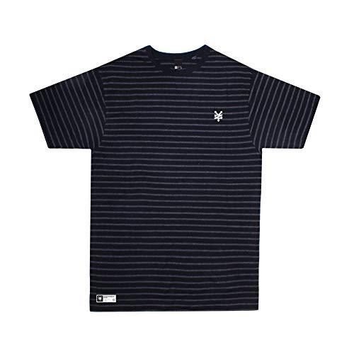 Zoo York Heritage T-Shirt, Nero (Black/Charcoal BLC), Small Uomo