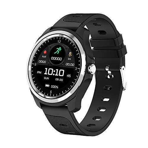 Smartwatch , Bluetooth Smart Watch Bracelet Fitness Tracker Armband Sportuhr mit Pulsmesser Schlafmonitor Schrittzähler, Armbanduhr iOS Android für Damen Herren Laufen/Wandern/Klettern (BK2
