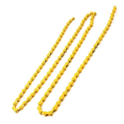 1/2 'Catena Pitch 108 maglie di trascinamento giallo per bici di montagna della bicicletta
